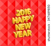 inscription happy new year ... | Shutterstock .eps vector #347689850