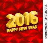 inscription happy new year ... | Shutterstock .eps vector #347689916