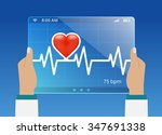 medicine doctor monitoring the... | Shutterstock .eps vector #347691338