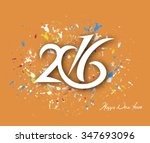 happy new year 2016 text design | Shutterstock .eps vector #347693096