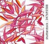 watercolor retro seamless... | Shutterstock . vector #347693588