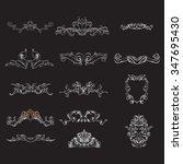 decorative elements in vintage... | Shutterstock .eps vector #347695430