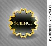 science gold badge or emblem | Shutterstock .eps vector #347696564