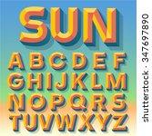 vector 3d summer simple bold... | Shutterstock .eps vector #347697890