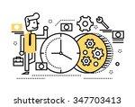 businessman repair the clock ... | Shutterstock .eps vector #347703413