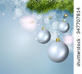 winter holiday snow background... | Shutterstock . vector #347707814