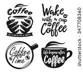 hand drawn typography coffee... | Shutterstock .eps vector #347708360