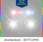 police car glow special light... | Shutterstock .eps vector #347711954