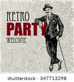 retro party design with... | Shutterstock .eps vector #347713298