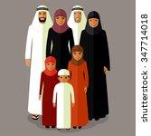 vector arab family  muslim... | Shutterstock .eps vector #347714018