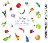 colorful vector  marker pen... | Shutterstock .eps vector #347719430