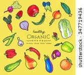 colorful vector  marker pen... | Shutterstock .eps vector #347719436