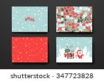merry christmas set of card... | Shutterstock .eps vector #347723828