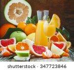 freshly squeezed citrus juice... | Shutterstock . vector #347723846