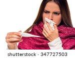 disease. young beautiful woman...   Shutterstock . vector #347727503