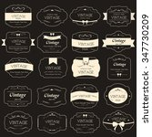 premium label vintage style on... | Shutterstock .eps vector #347730209
