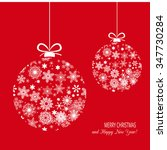 red christmas background with... | Shutterstock .eps vector #347730284