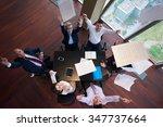 top view of  business people... | Shutterstock . vector #347737664