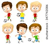 very adorable boy character set ... | Shutterstock .eps vector #347742086