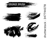 vector set of grunge brush... | Shutterstock .eps vector #347744378