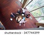 top view of  business people... | Shutterstock . vector #347744399
