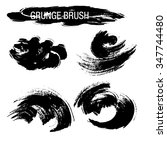 vector set of grunge brush... | Shutterstock .eps vector #347744480