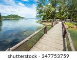 small wooden bridge to the... | Shutterstock . vector #347753759