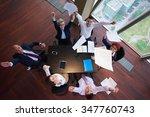 top view of  business people...   Shutterstock . vector #347760743