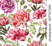 seamless pattern with... | Shutterstock . vector #347767340