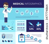 medical infographics with... | Shutterstock .eps vector #347774864
