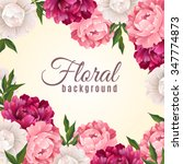 floral realistic background... | Shutterstock .eps vector #347774873