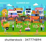 summer day background with... | Shutterstock .eps vector #347774894