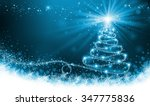 shining blue christmas tree | Shutterstock . vector #347775836