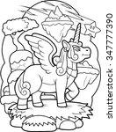 winged unicorn | Shutterstock . vector #347777390