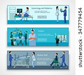 medical professional 3 flat... | Shutterstock .eps vector #347779454