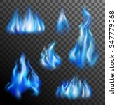 Realistic Burning Blue Fire...