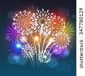 vector holiday firework | Shutterstock .eps vector #347780129