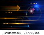 vector abstract  science ... | Shutterstock .eps vector #347780156
