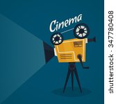 cinema poster with vintage... | Shutterstock .eps vector #347780408