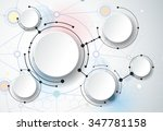 abstract molecules and 3d paper ... | Shutterstock .eps vector #347781158