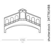 "line icon of bridge ""rialto"".... | Shutterstock .eps vector #347781488"