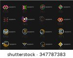 abstract line logo collection.... | Shutterstock .eps vector #347787383
