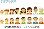 people generations avatars... | Shutterstock .eps vector #347788346
