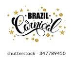 brazil carnival gold glittering ... | Shutterstock .eps vector #347789450
