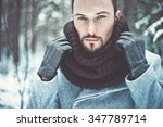 outdoor portrait of handsome... | Shutterstock . vector #347789714