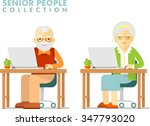 social concept   old people... | Shutterstock .eps vector #347793020