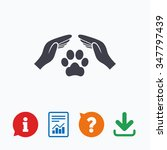 protection of animals sign icon.... | Shutterstock . vector #347797439