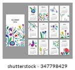 calendar 2016. templates with... | Shutterstock .eps vector #347798429
