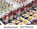 beautifully decorated catering... | Shutterstock . vector #347799410