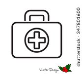 web line icon. medical case. | Shutterstock .eps vector #347801600